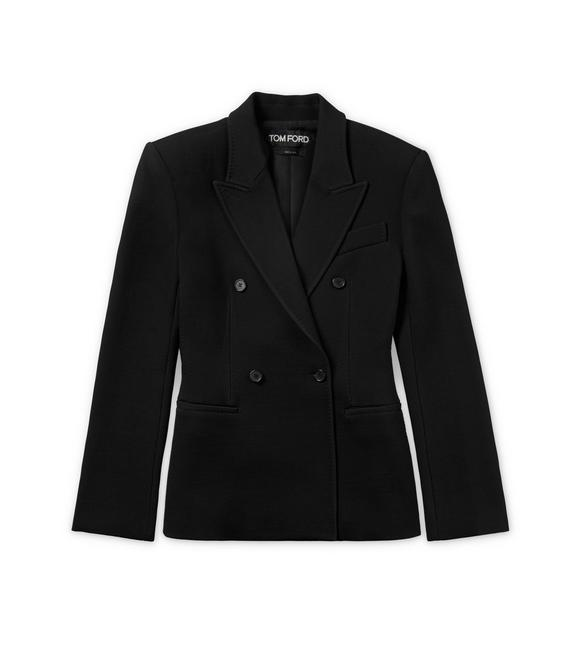FITTED DOUBLE BREASTED WOOL JACKET A fullsize