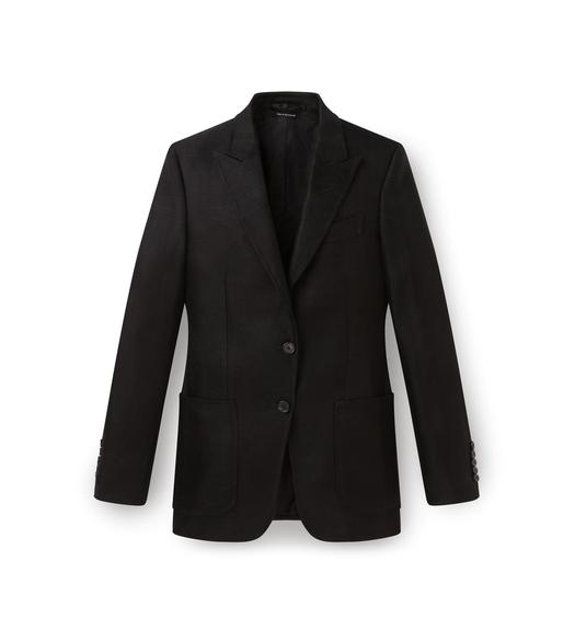PEAK LAPEL PATCH POCKET JACKET