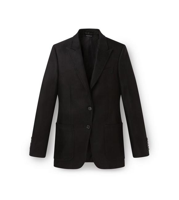 PEAK LAPEL PATCH POCKET JACKET A fullsize