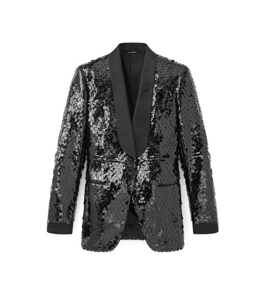 SHAWL LAPEL EMBROIDERED TUXEDO JACKET