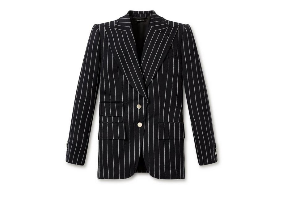 PINSTRIPE DOUBLE BREASTED JACKET A fullsize