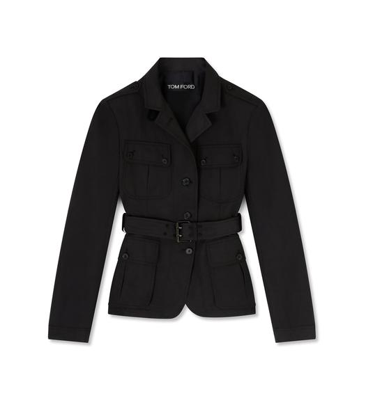 TRICOTINE BELTED JACKET