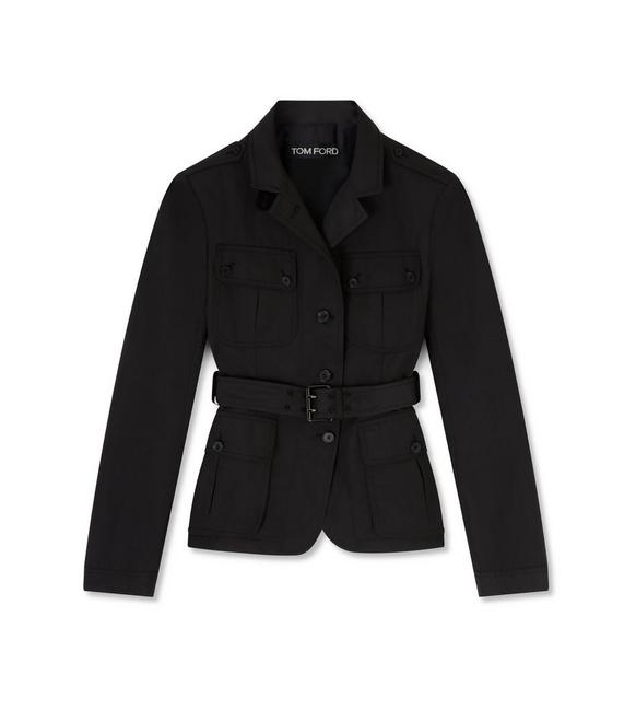 TRICOTINE BELTED JACKET A fullsize