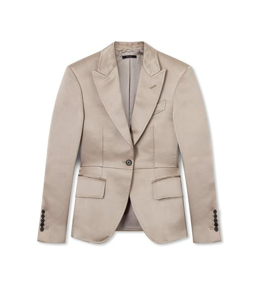 COTTON SILK DUCHESSE TAILORED JACKET