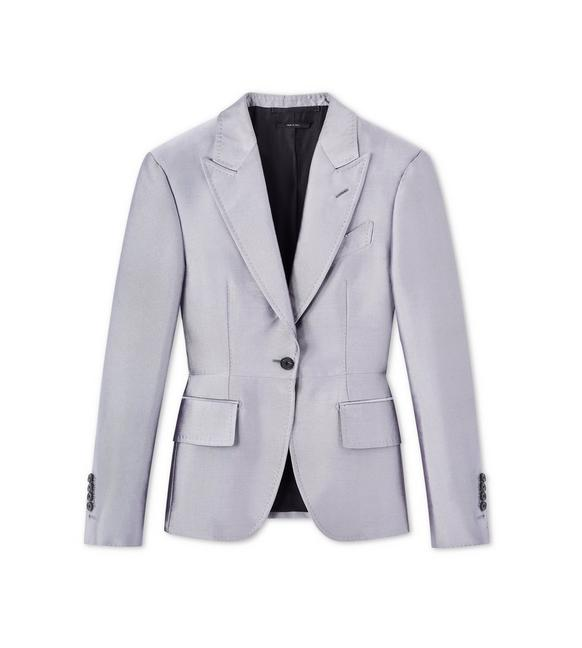 IRIDESCENT TWILL TAILORED JACKET A fullsize
