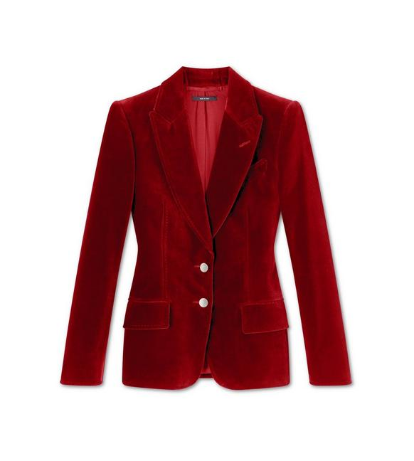 COTTON VELVET TAILORED JACKET A fullsize