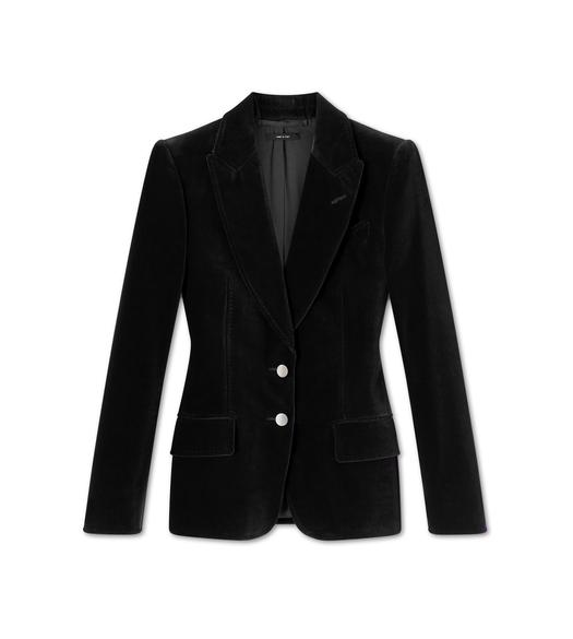 COTTON VELVET TAILORED JACKET