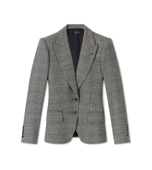 PRINCE OF WALES WOOL TAILORED JACKET