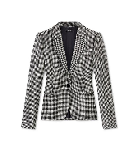 HOUNDSTOOTH WOOL TAILORED JACKET A fullsize
