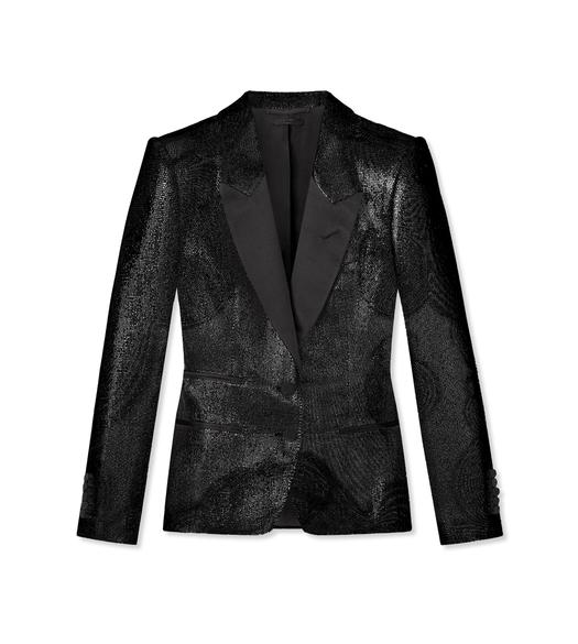 LUREX TECHNICAL WOOL TUXEDO JACKET