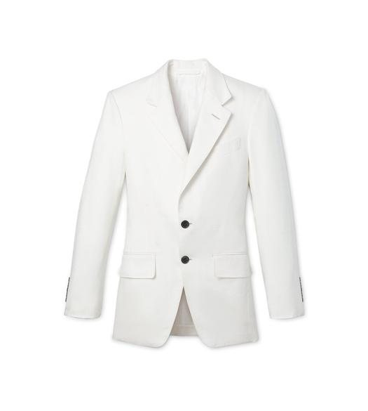 SILK CANVAS TAILORED JACKET