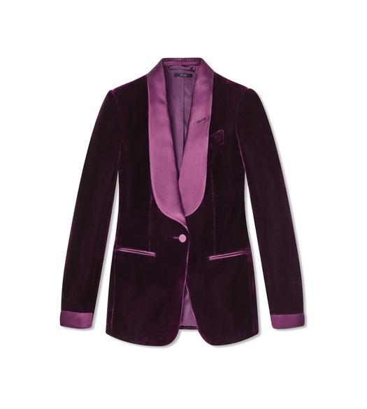 VISCOSE VELVET TUXEDO TAILORED JACKET