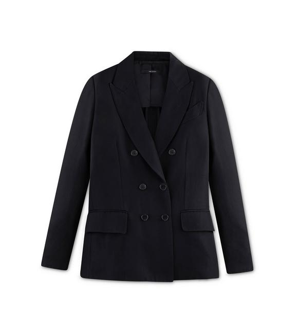HEAVY TWILL DOUBLE BREASTED DECONSTRUCTED JACKET A fullsize
