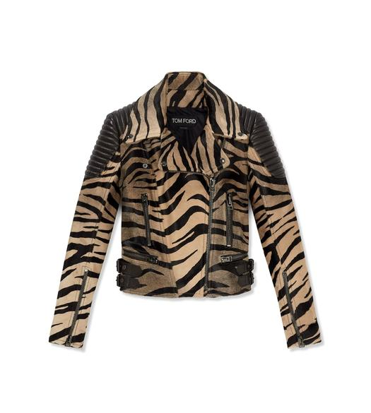 TIGER PRINTED BIKER JACKET