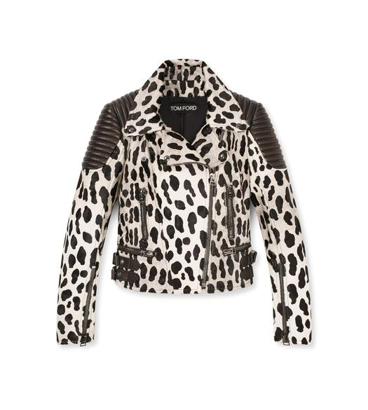 PANTHER PRINTED BIKER JACKET