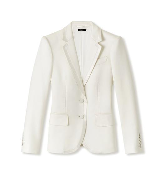 SILK BLEND TERRY TAILORED JACKET