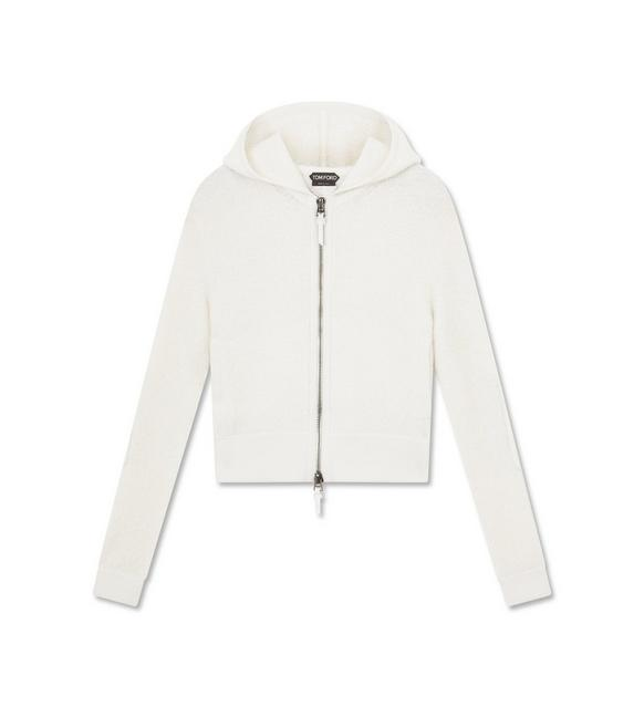 CASHMERE BOUCLE HOODED TOP A fullsize