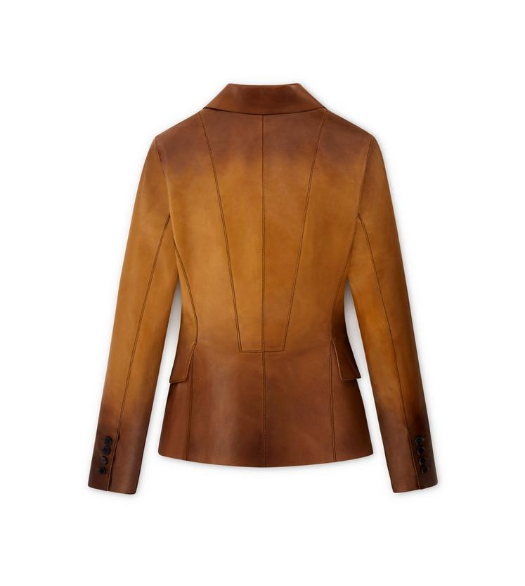 COGNAC PLONGE LEATHER JACKET B fullsize