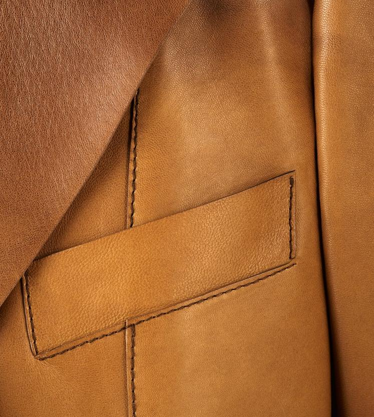COGNAC PLONGE LEATHER JACKET C fullsize