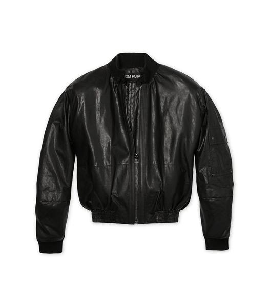 OVERSIZED LEATHER BOMBER