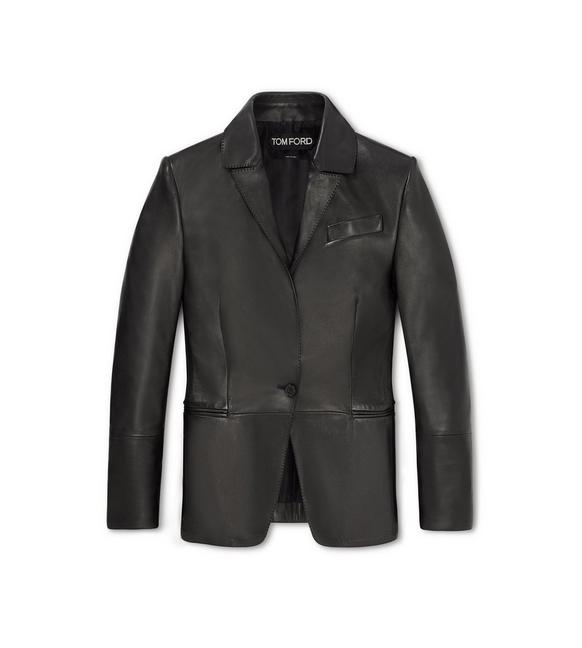 LEATHER TAILORED JACKET A fullsize