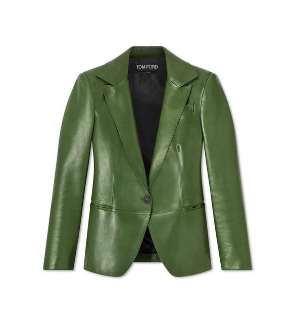 LEATHER NOTCH LAPEL JACKET A fullsize