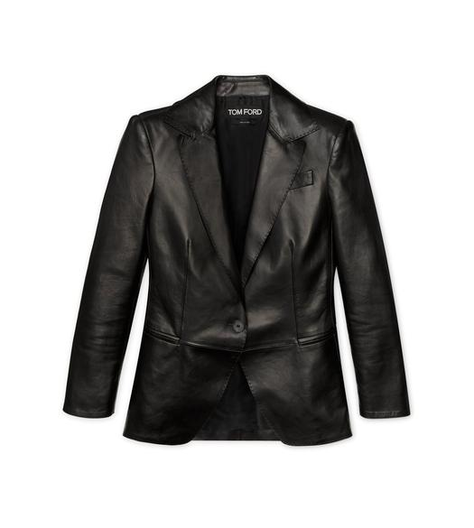 LEATHER NOTCH LAPEL JACKET