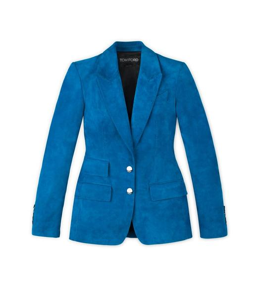 TAILORED CASHMERE SUEDE PEAK LAPEL JACKET