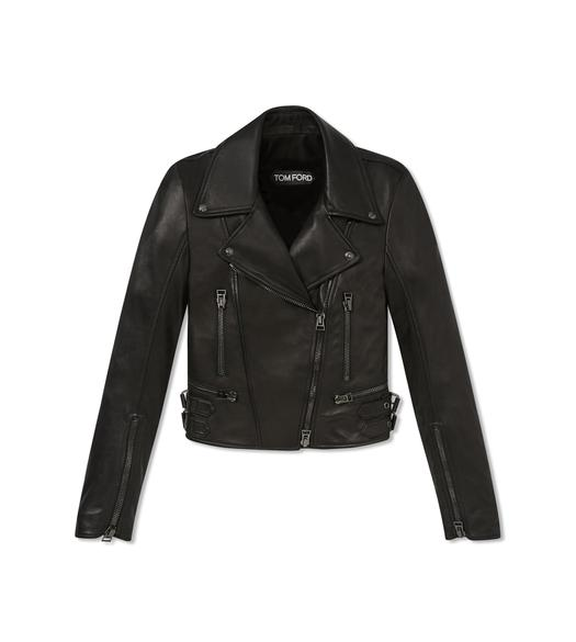 PLONGE FITTED BIKER JACKET