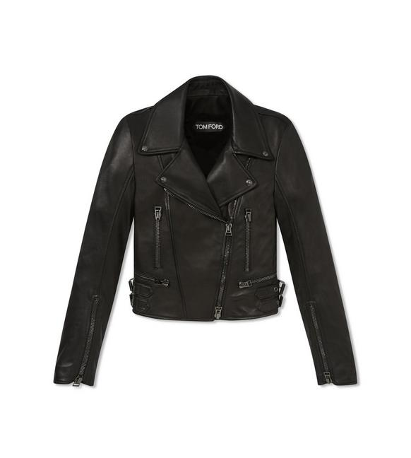PLONGE FITTED BIKER JACKET A fullsize