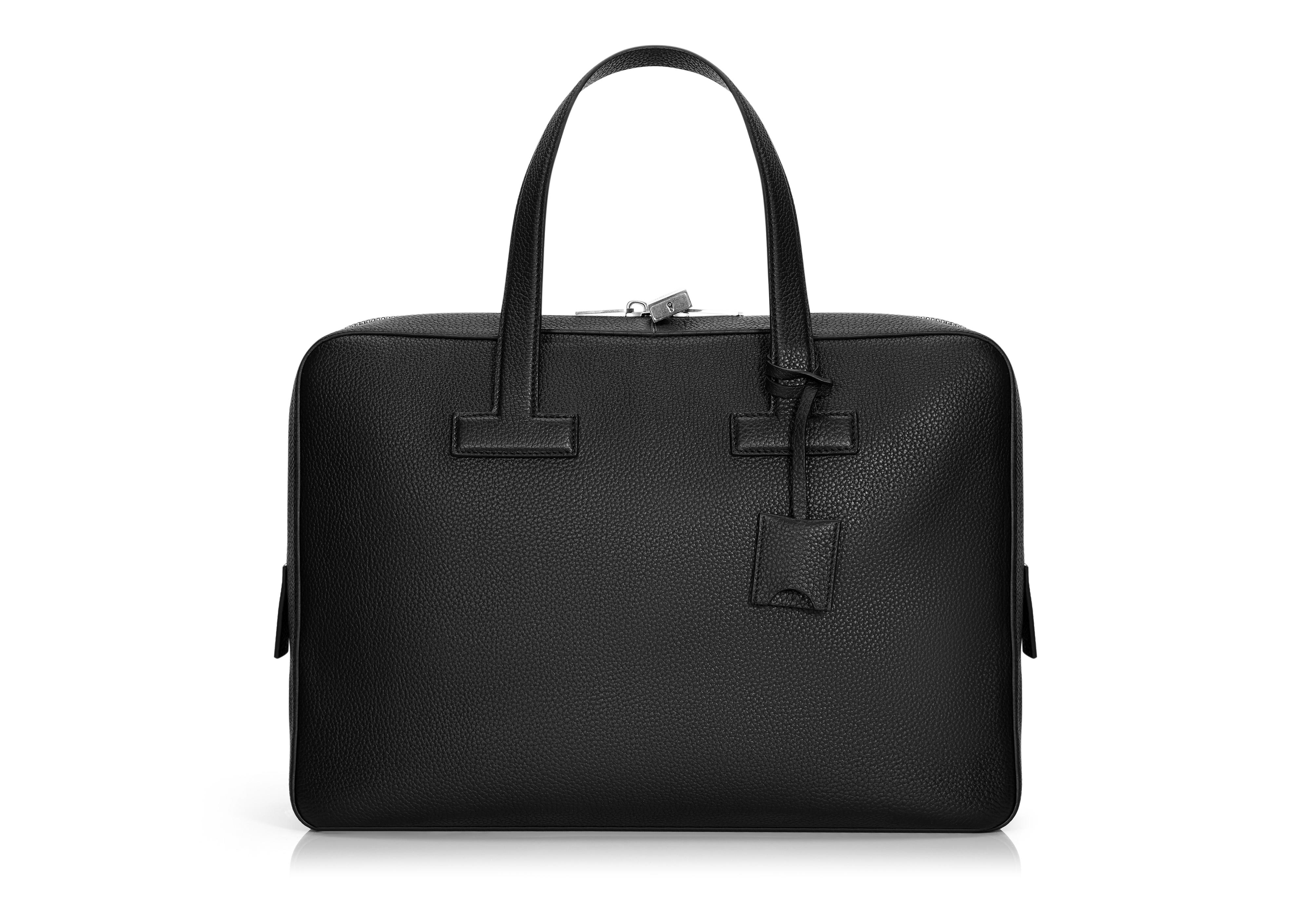 T LINE GRAINED LEATHER SMALL BRIEFCASE A thumbnail