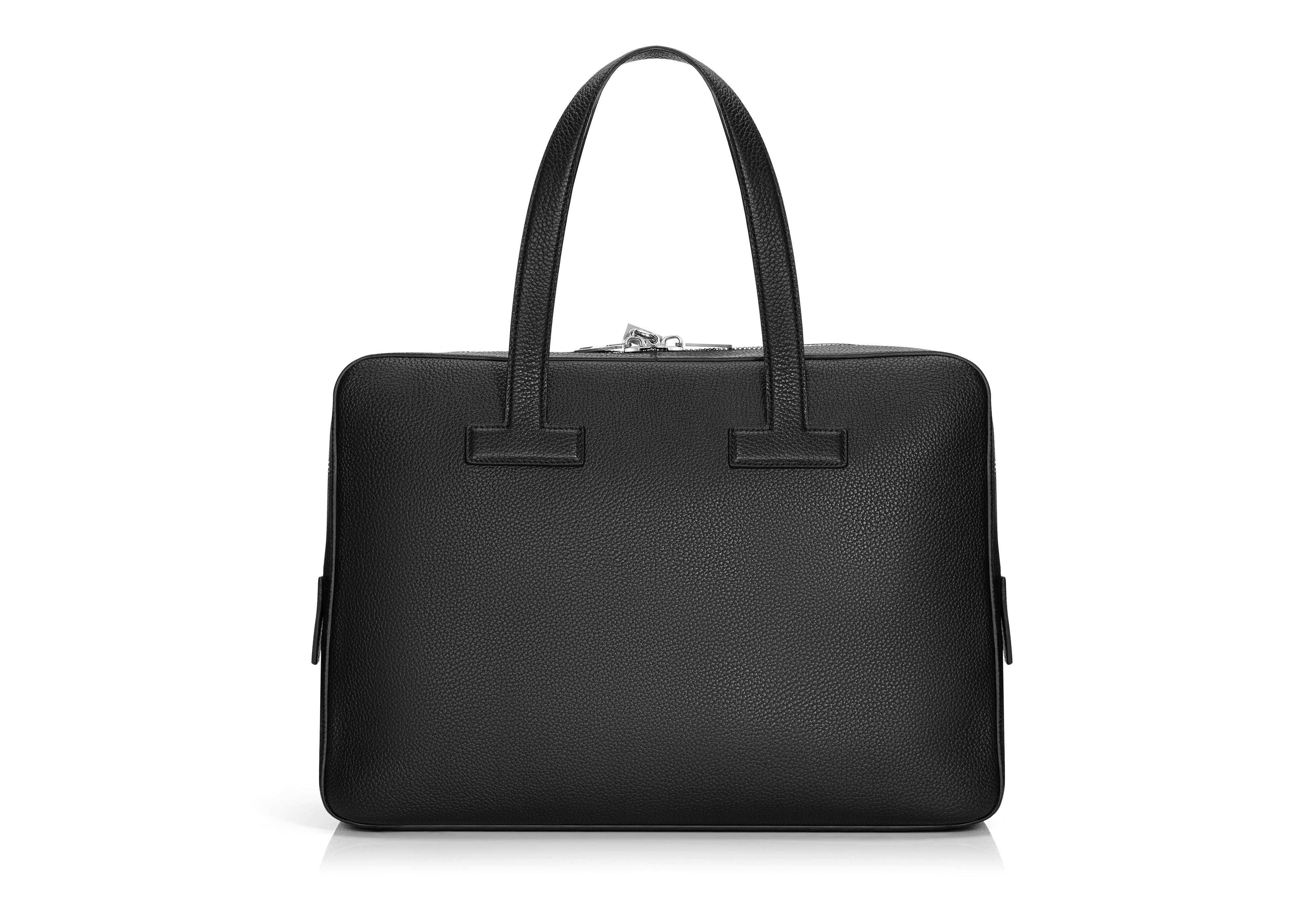 T LINE GRAINED LEATHER SMALL BRIEFCASE C thumbnail