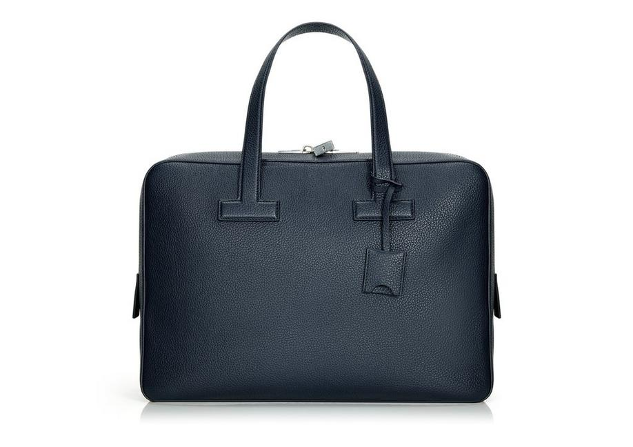 T LINE GRAINED LEATHER SMALL BRIEFCASE A fullsize