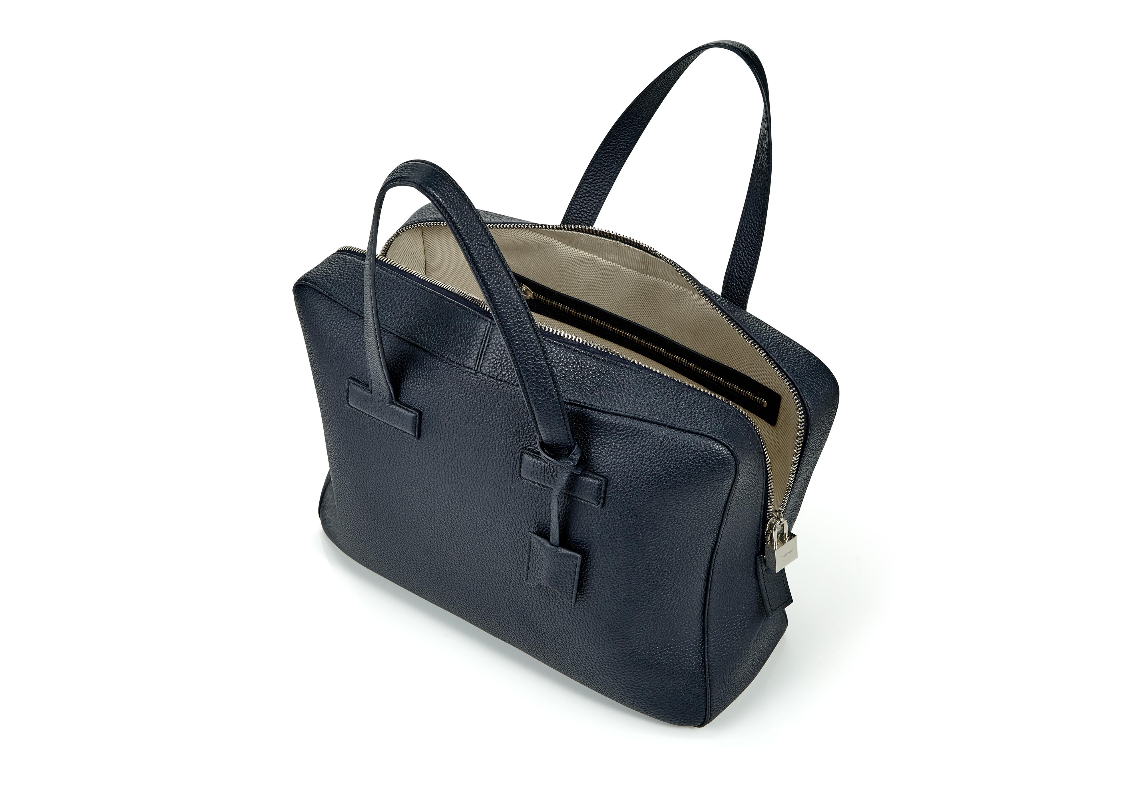 T LINE GRAINED LEATHER SMALL BRIEFCASE D thumbnail