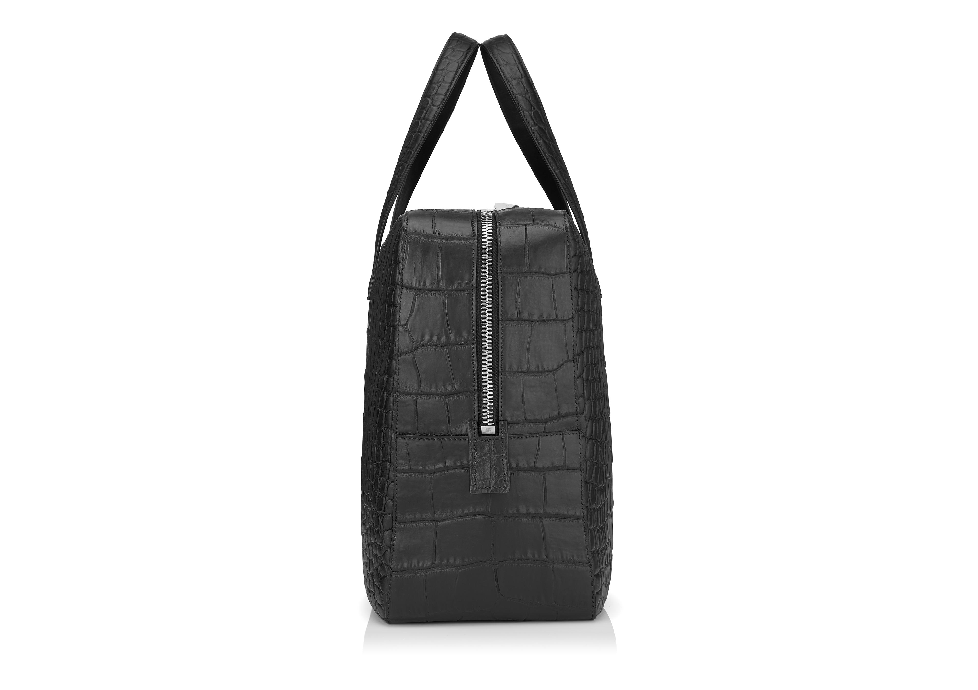 T LINE MATTE ALLIGATOR MEDIUM BRIEFCASE B thumbnail