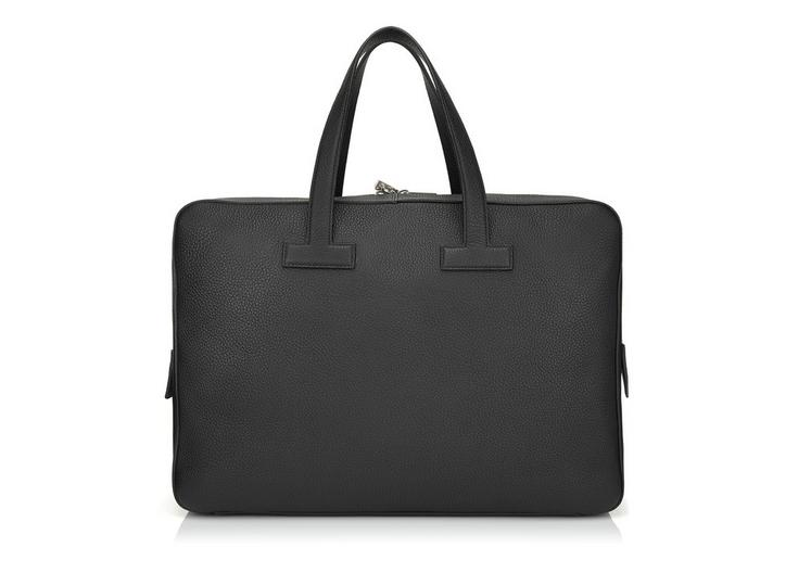 T LINE GRAINED LEATHER MEDIUM BRIEFCASE C fullsize