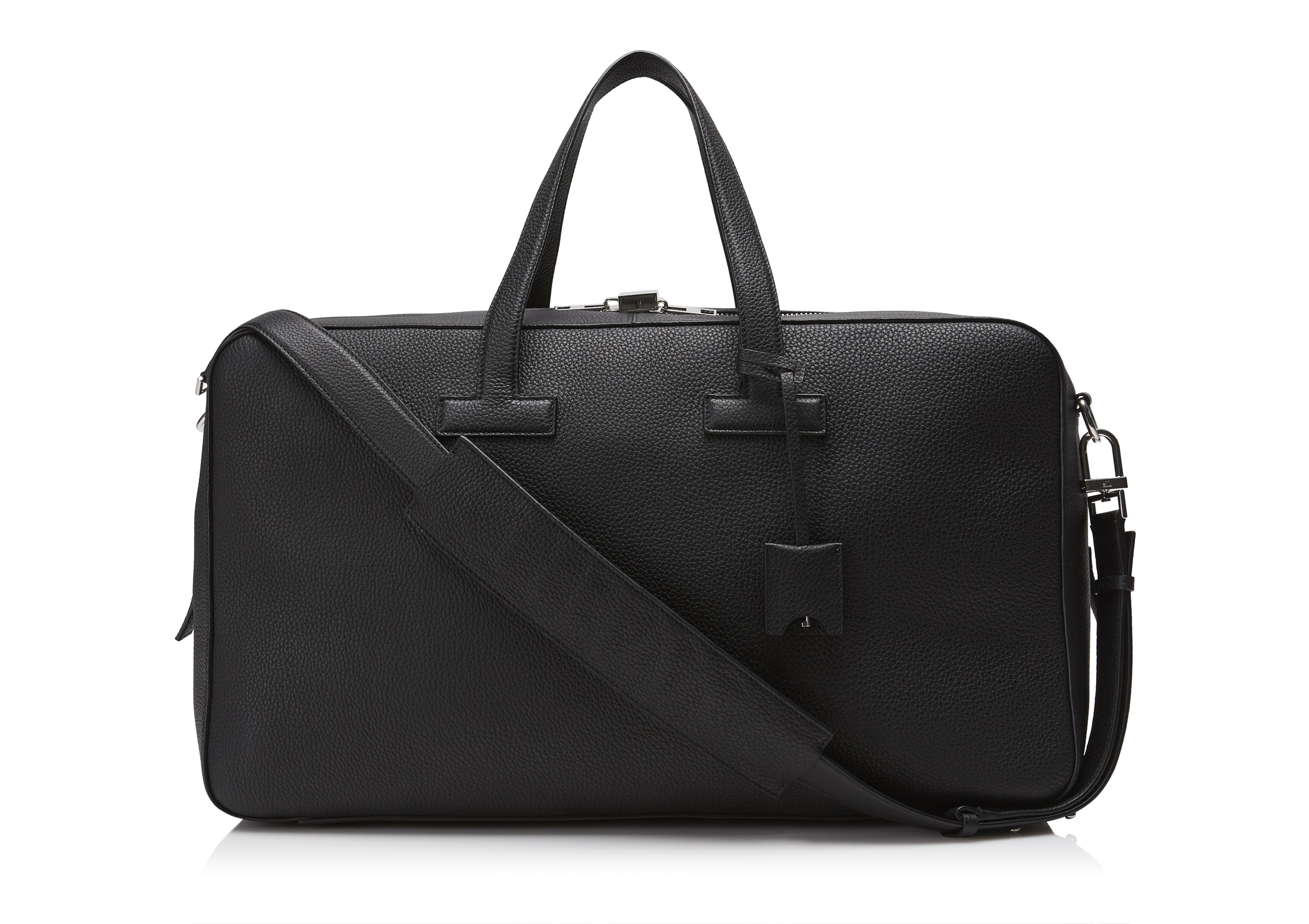T LINE GRAINED LEATHER WEEKENDER A thumbnail