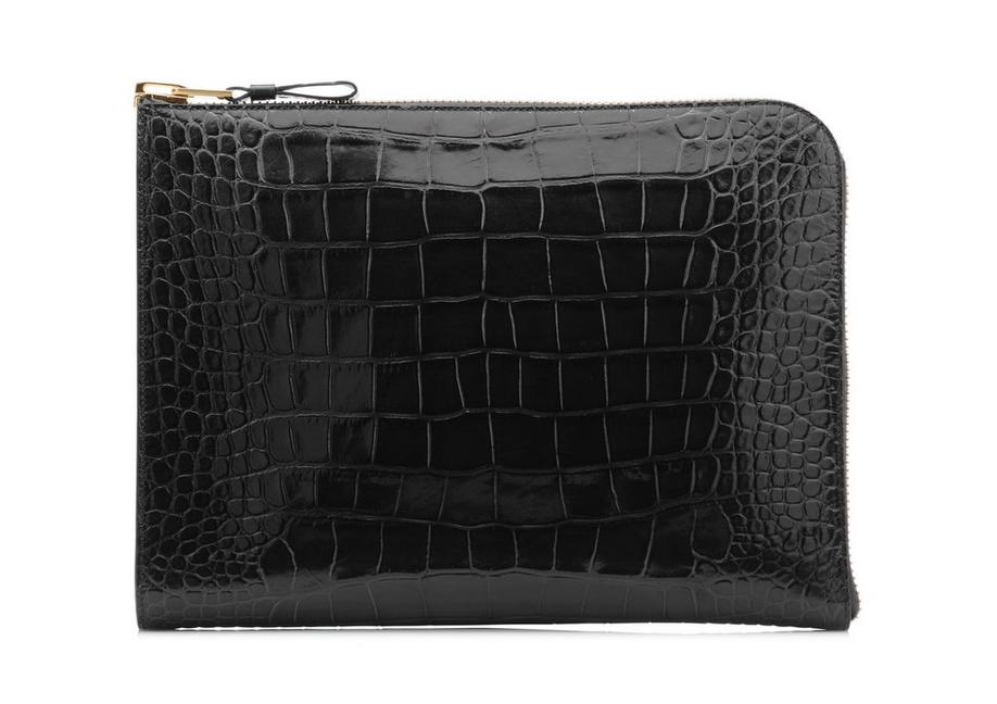 ALLIGATOR BUCKLEY ZIP PORTFOLIO A fullsize