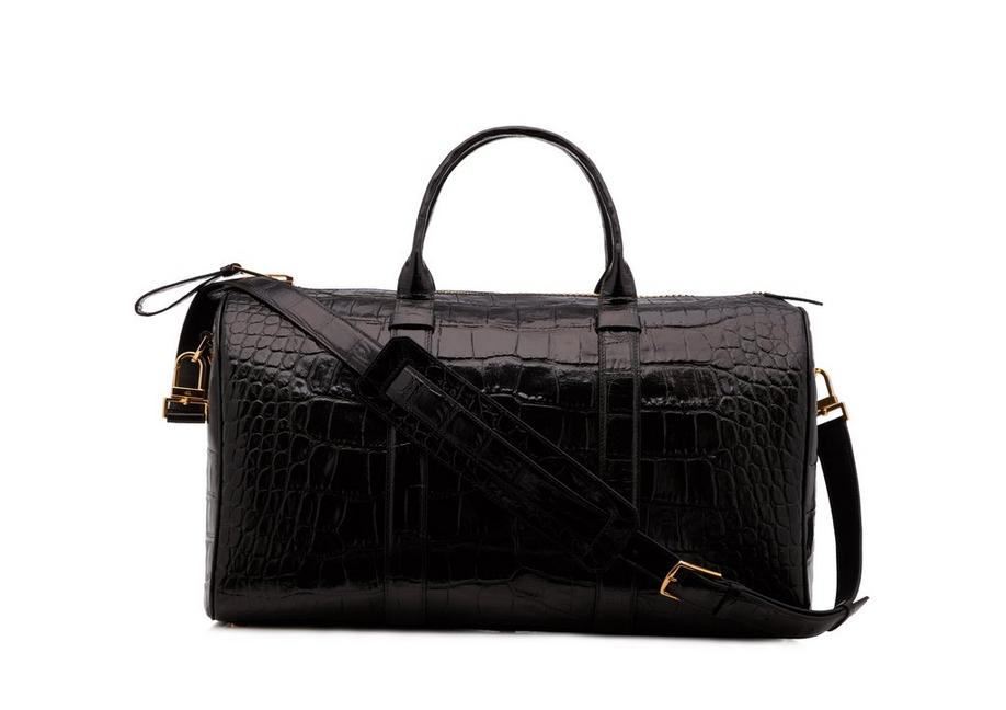 MEDIUM ALLIGATOR BUCKLEY DUFFLE A fullsize