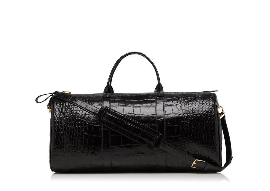 LARGE ALLIGATOR BUCKLEY DUFFLE A fullsize