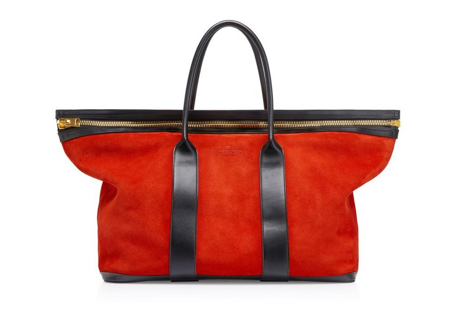 SUEDE BUCKLEY TOTE A fullsize