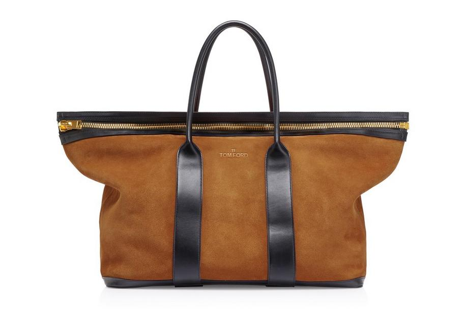2dc256653db4 SUEDE BUCKLEY TOTE
