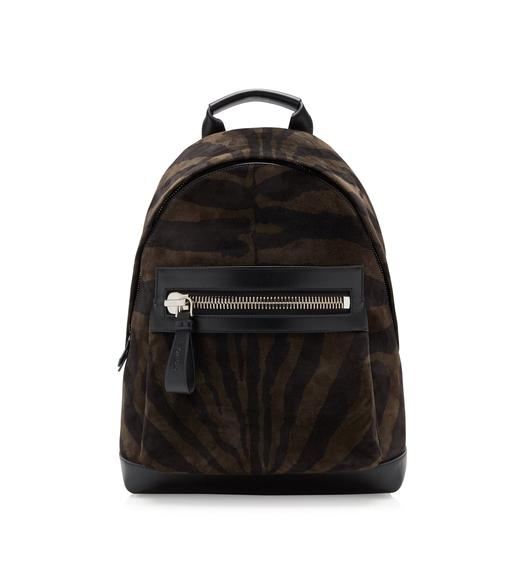 ZEBRA SUEDE LARGE BUCKLEY BACKPACK