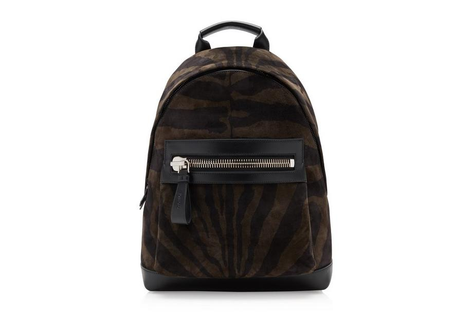 ZEBRA SUEDE LARGE BUCKLEY BACKPACK A fullsize