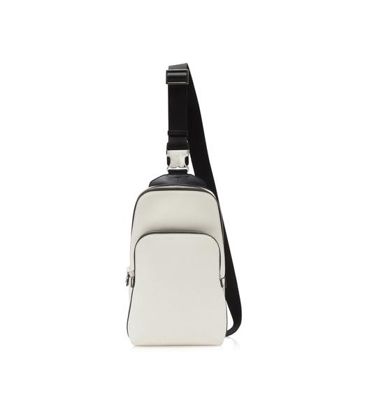 GRAIN LEATHER SLIM CROSSBODY BACKPACK
