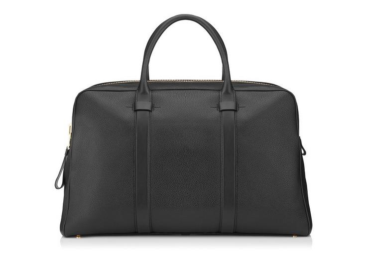 BUCKLEY LEATHER FLAT TRAPEZE BRIEFCASE A fullsize