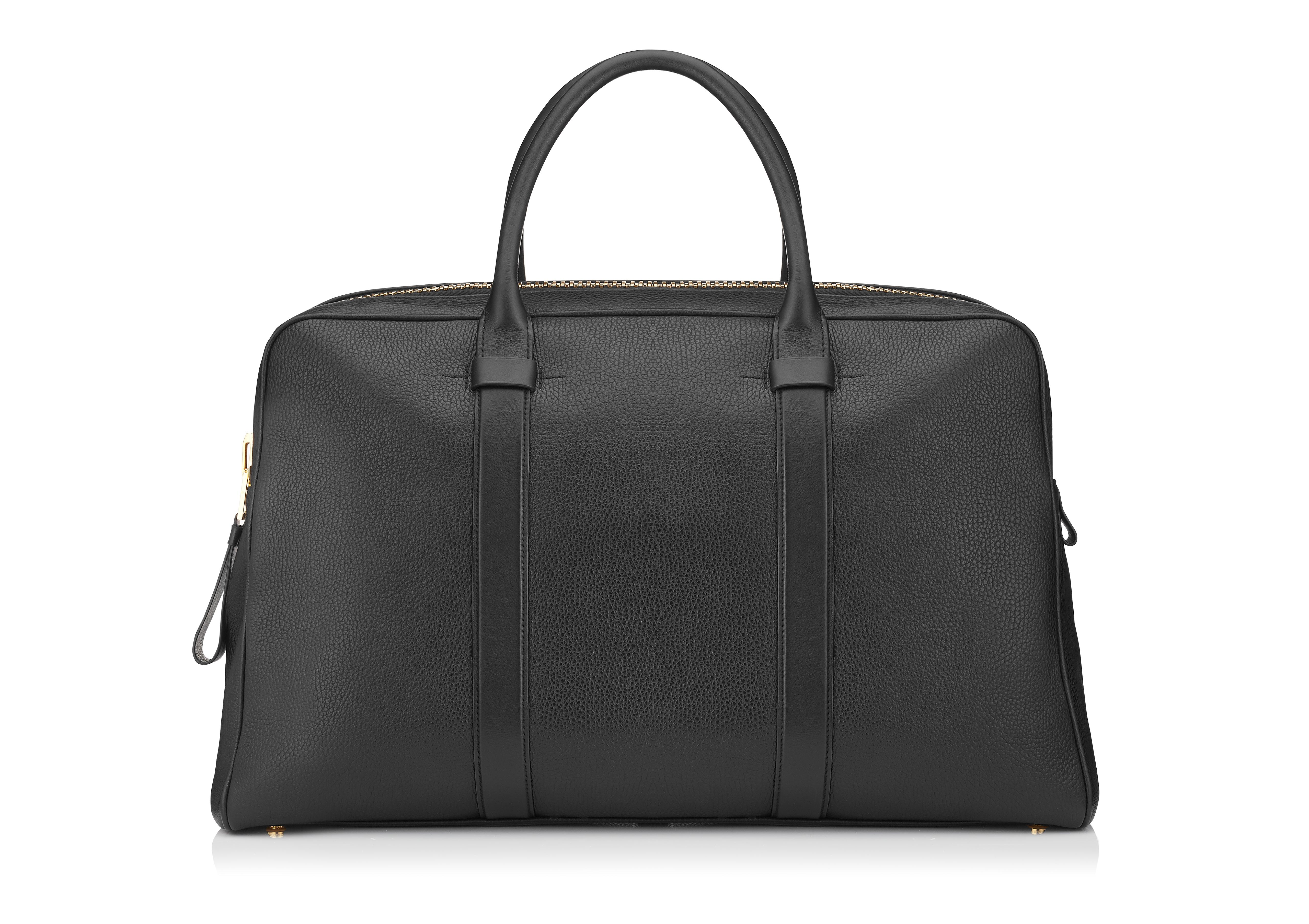 BUCKLEY LEATHER FLAT TRAPEZE BRIEFCASE A thumbnail