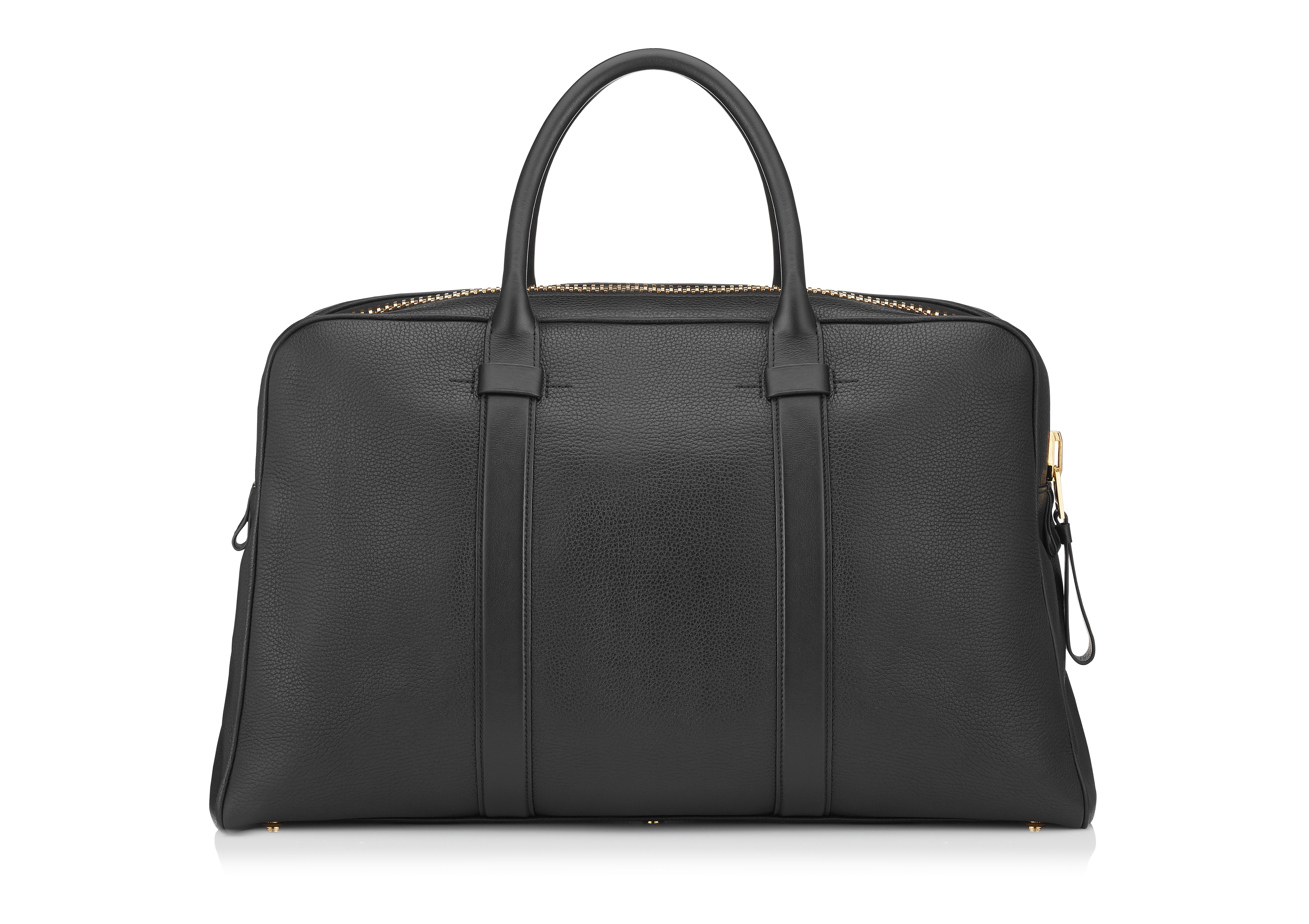 BUCKLEY LEATHER FLAT TRAPEZE BRIEFCASE B thumbnail