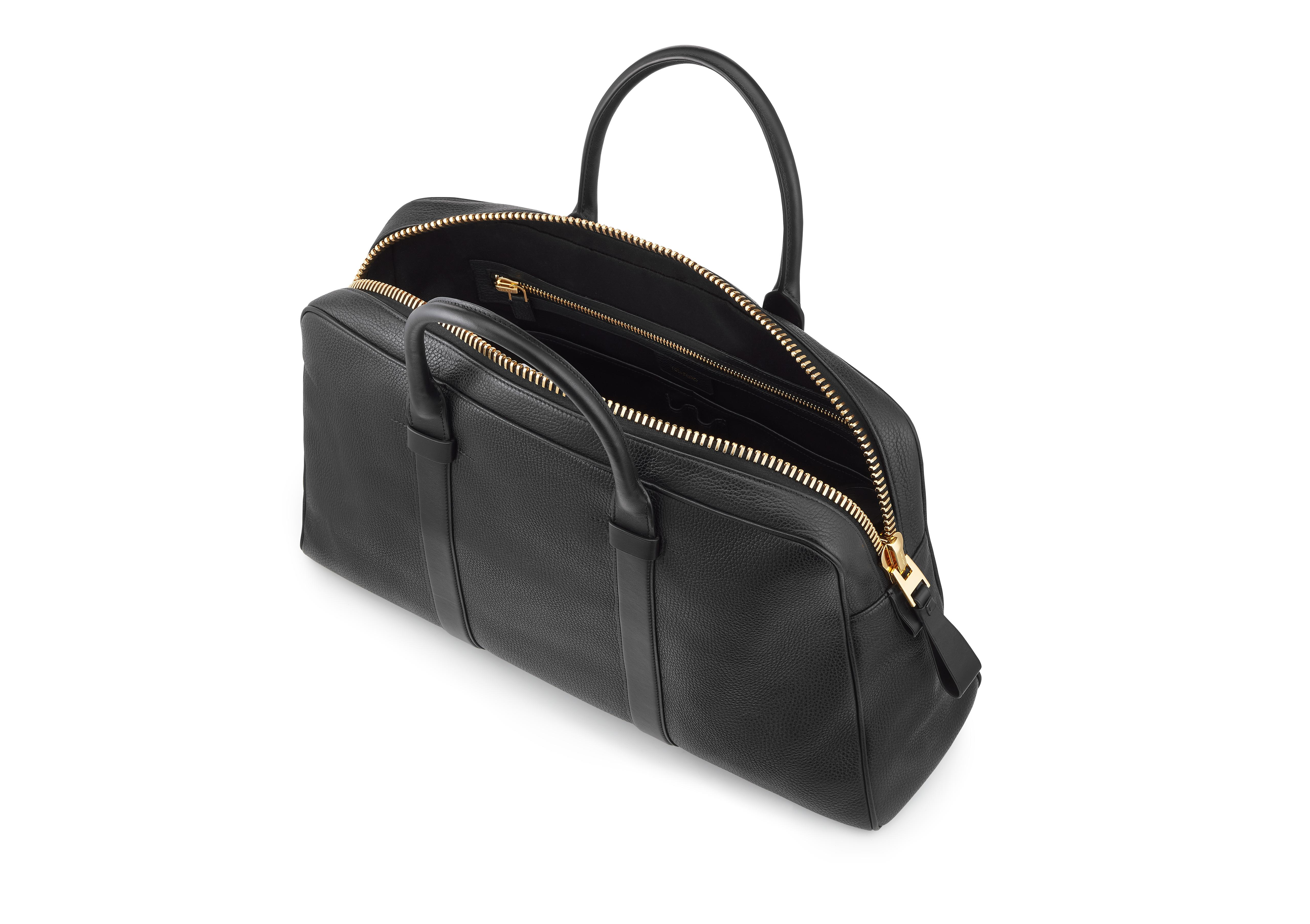 BUCKLEY LEATHER FLAT TRAPEZE BRIEFCASE D thumbnail