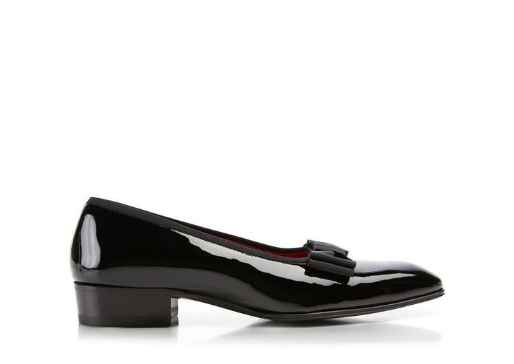 Gianni Patent Leather Low-Vamp Evening Pump A fullsize